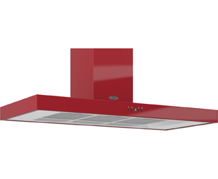 Britannia Arioso HOOD-K7088A11-R 110 cm Chimney Cooker Hood - Red - C Rated - HOOD-K7088A11-R_RD - 1