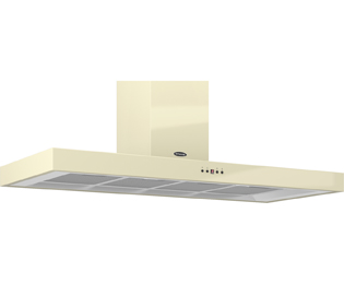 Britannia Arioso HOOD-K7088A12-C 120 cm Chimney Cooker Hood - Cream - C Rated - HOOD-K7088A12-C_CR - 1