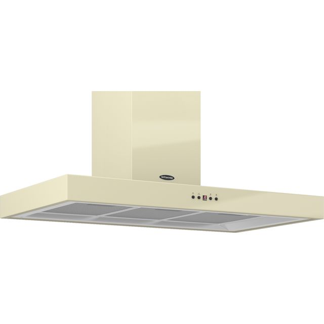 Britannia Arioso HOOD-K7088A90-C 90 cm Chimney Cooker Hood - Cream - C Rated - HOOD-K7088A90-C_CR - 1