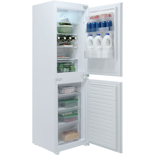 Hoover Integrated 50/50 Fridge Freezer with Sliding Door Fixing Kit - White - A+ Rated