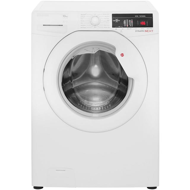 Hoover Dynamic Next DLOA4103 10Kg Washing Machine with 1400 rpm - White - A+++ Rated - DLOA4103_WH - 1
