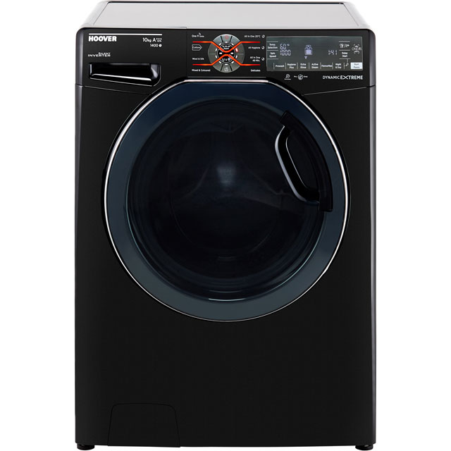 Hoover Dynamic Extreme DWFT410AH8B Wifi Connected 10Kg Washing Machine with 1400 rpm - Black - A+++ Rated - DWFT410AH8B_BK - 1