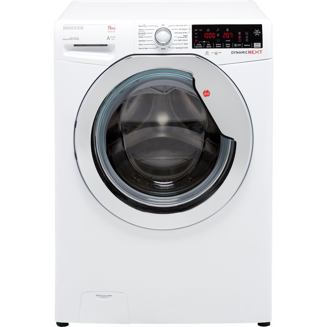 Hoover Dynamic Next DWOA411AHC8/1 Wifi Connected 11Kg Washing Machine with 1400 rpm - White / Chrome