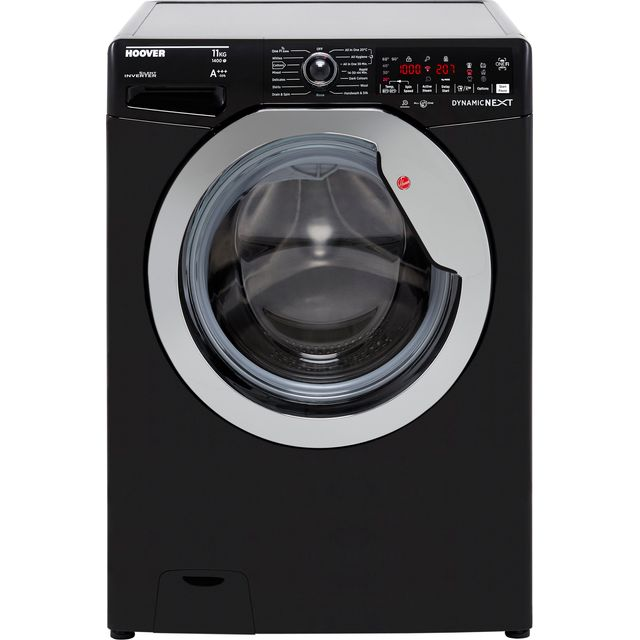 Hoover Dynamic Next DWOA411AHC8B Wifi Connected 11Kg Washing Machine with 1400 rpm - Black / Chrome
