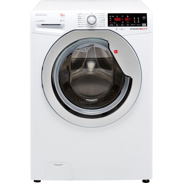 Hoover Dynamic Next DWOA412AHC8/1 Wifi Connected 12Kg Washing Machine with 1400 rpm - White / Chrome - A+++ Rated - DWOA412AHC8/1_WH - 1