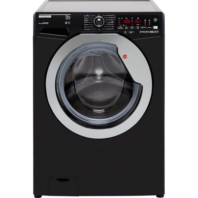 Hoover Dynamic Next DWOA412AHC8B 12Kg Washing Machine - Black / Chrome - DWOA412AHC8B_BK - 1