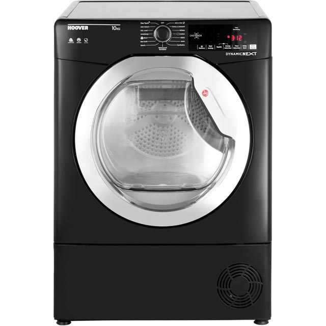 Hoover Dynamic Next Advance Free Standing Condenser Tumble Dryer in Black