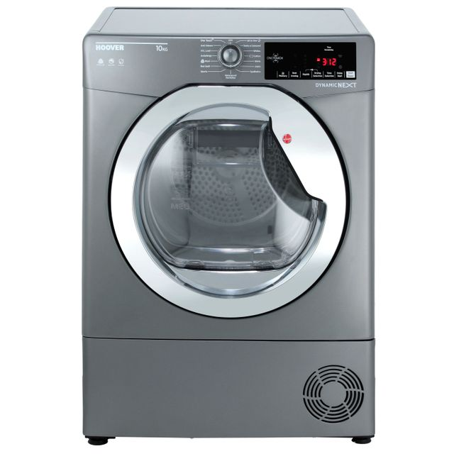 Hoover Dynamic Next Advance DXC10TCER Condenser Tumble Dryer - Graphite / Chrome - DXC10TCER_GH - 1