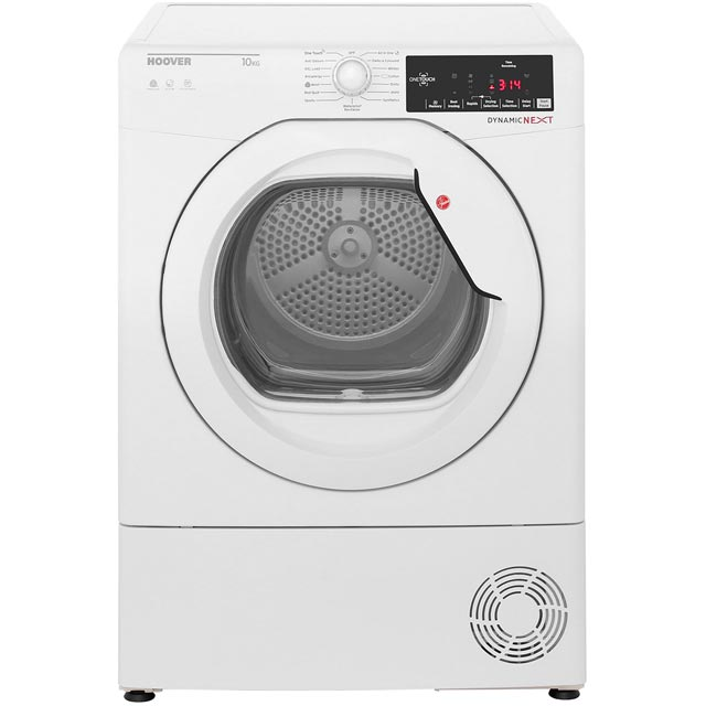 Hoover Dynamic Next DXC10TG Condenser Tumble Dryer - White - DXC10TG_WH - 1