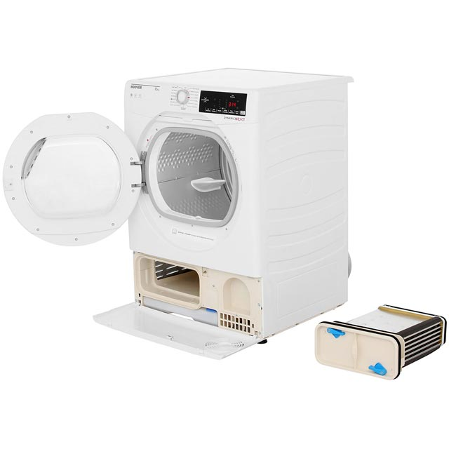 Hoover Dynamic Next DXC10TG Condenser Tumble Dryer - White - DXC10TG_WH - 2
