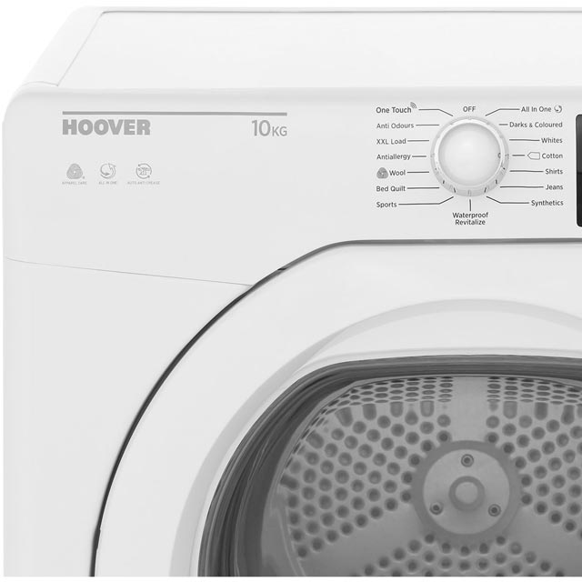 Hoover Dynamic Next DXC10TG Condenser Tumble Dryer - White - DXC10TG_WH - 3