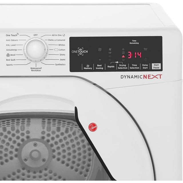 Hoover Dynamic Next DXC10TG Condenser Tumble Dryer - White - DXC10TG_WH - 4