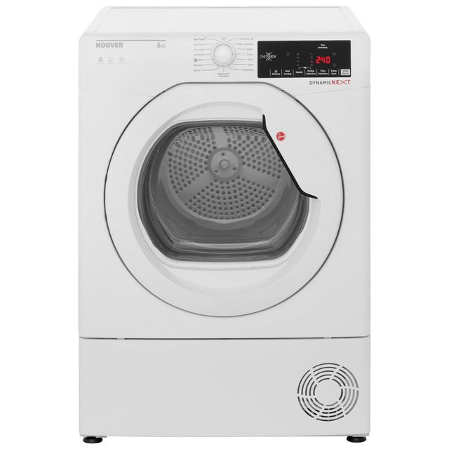 Hoover Dynamic Next DXC8TG Condenser Tumble Dryer - White - DXC8TG_WH - 1