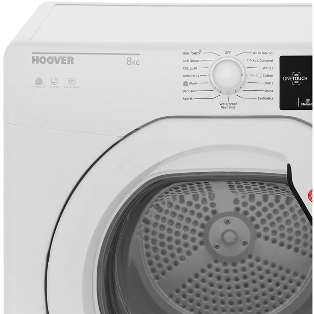Hoover Dynamic Next DXC8TG Condenser Tumble Dryer - White - DXC8TG_WH - 3