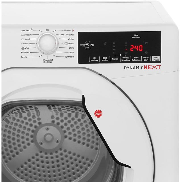 Hoover Dynamic Next DXC8TG Condenser Tumble Dryer - White - DXC8TG_WH - 4