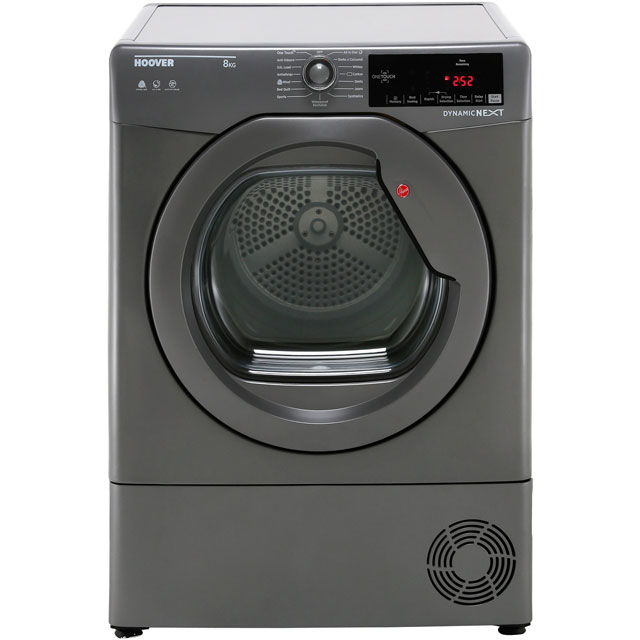 Hoover Dynamic Next Advance DXC8TRGR 8Kg Condenser Tumble Dryer - Graphite - B Rated - DXC8TRGR_GH - 1