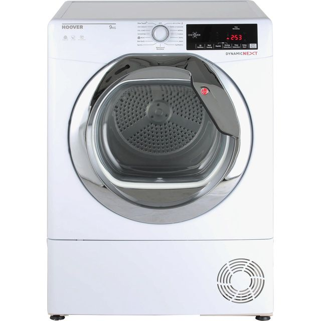 Hoover Dynamic Next Advance DXC9TCG 9Kg Condenser Tumble Dryer - White / Chrome - B Rated