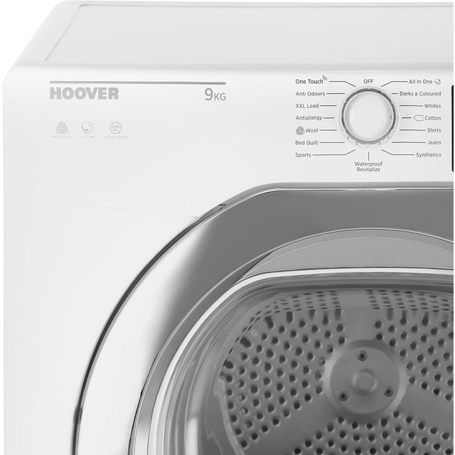 Hoover Dynamic Next Advance DXC9TCG 9Kg Condenser Tumble Dryer - White / Chrome - B Rated - DXC9TCG_WH - 2
