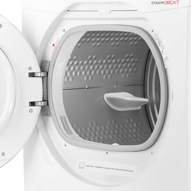 Hoover Dynamic Next Advance DXC9TCG 9Kg Condenser Tumble Dryer - White / Chrome - B Rated - DXC9TCG_WH - 4