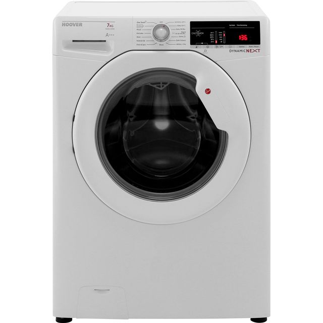 Hoover Dynamic Next Advance DXOA147LW3 7Kg Washing Machine with 1400 rpm - White - A+++ Rated - DXOA147LW3_WH - 1