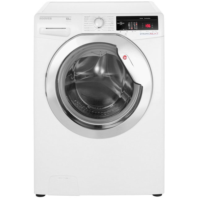 Hoover Dynamic Next DXOA410C3 10Kg Washing Machine with 1400 rpm - White - A+++ Rated - DXOA410C3_WH - 1