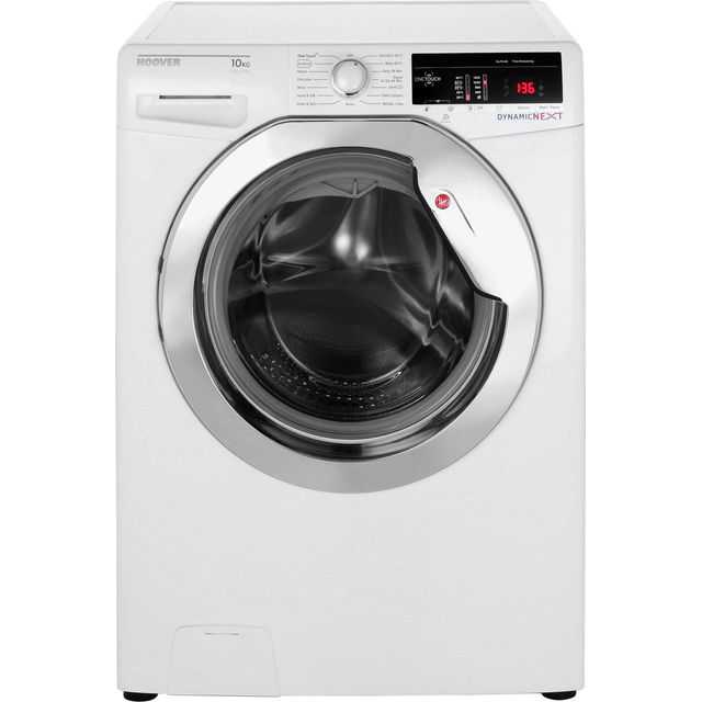 Hoover Dynamic Next DXOA410C3 10Kg Washing Machine with 1400 rpm - White / Chrome - A+++ Rated - DXOA410C3_WH - 1