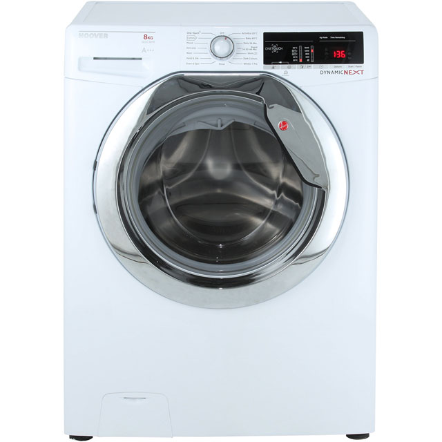 Hoover Dynamic Next Advance DXOA68C3 8Kg Washing Machine with 1600 rpm - White - A+++ Rated - DXOA68C3_WH - 1