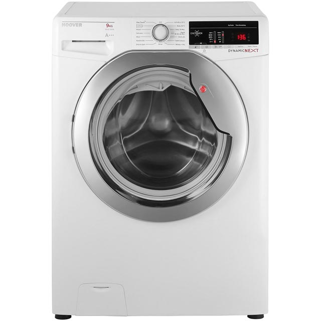 Hoover Dynamic Next DXOA69C3 9Kg Washing Machine with 1600 rpm - White / Chrome - A+++ Rated - DXOA69C3_WH - 1
