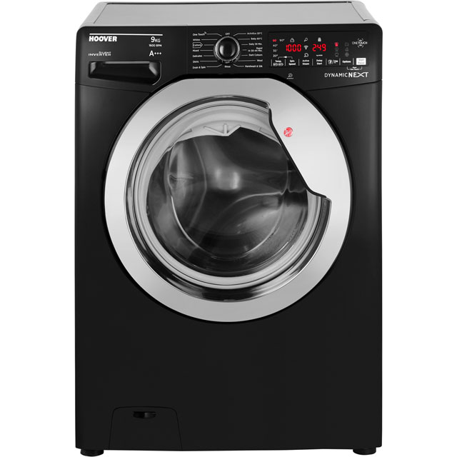 Hoover Dynamic Next DXOA69HC3B 9Kg Washing Machine with 1600 rpm - Black - A+++ Rated - DXOA69HC3B_BK - 1
