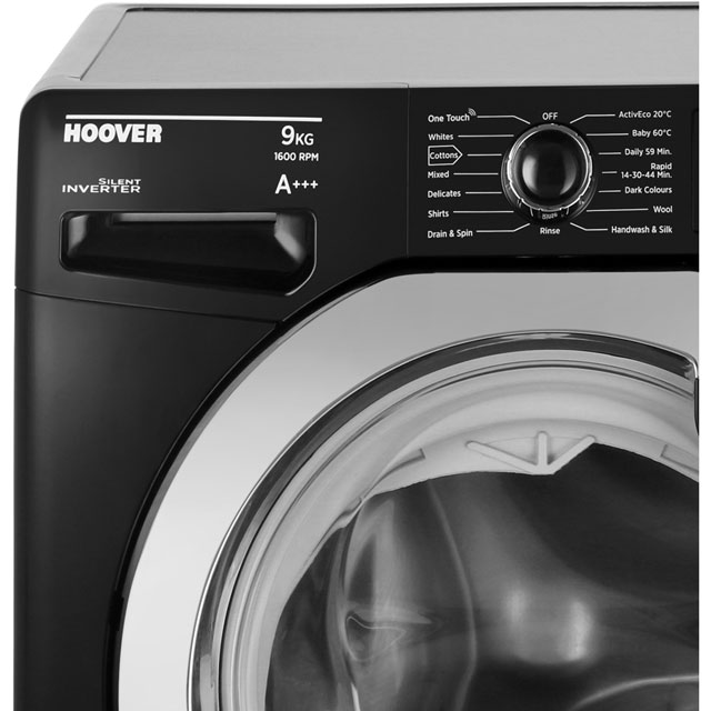 Hoover Dynamic Next DXOA69HC3B 9Kg Washing Machine - Black / Chrome - DXOA69HC3B_BK - 2