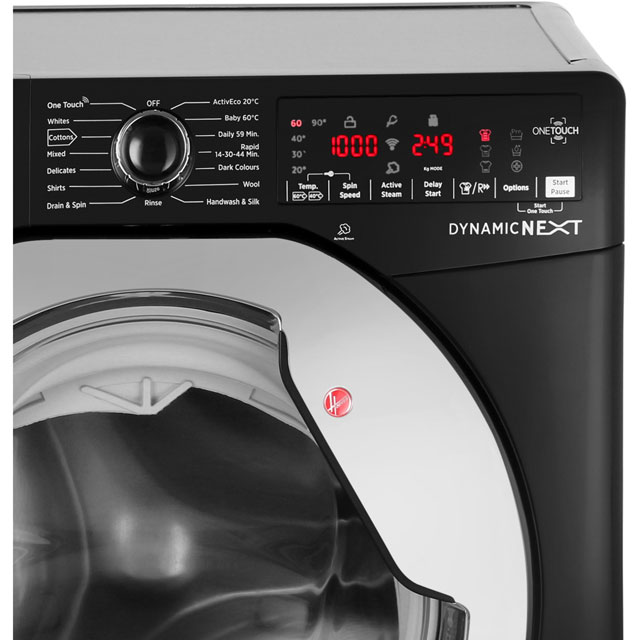Hoover Dynamic Next DXOA69HC3B 9Kg Washing Machine - Black / Chrome - DXOA69HC3B_BK - 3