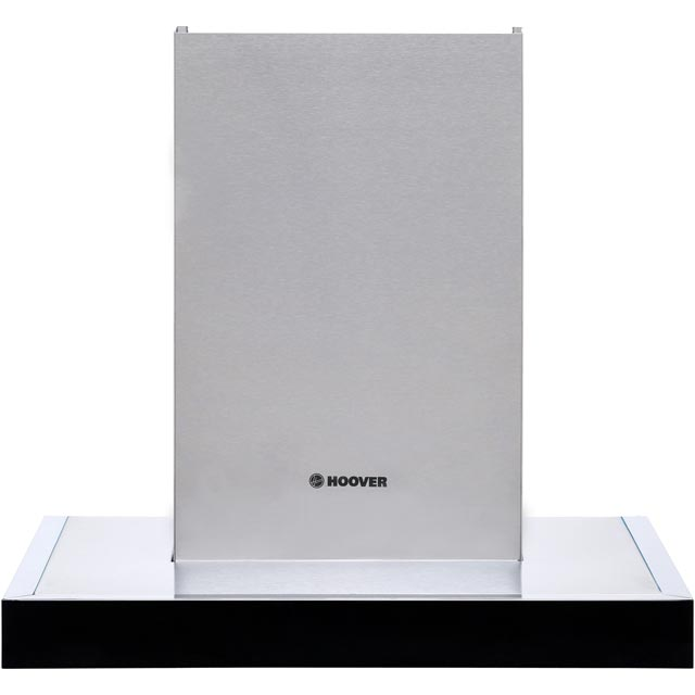 Hoover HBVS685TX 60 cm Chimney Cooker Hood - Stainless Steel / Black Glass - D Rated - HBVS685TX_SS - 1