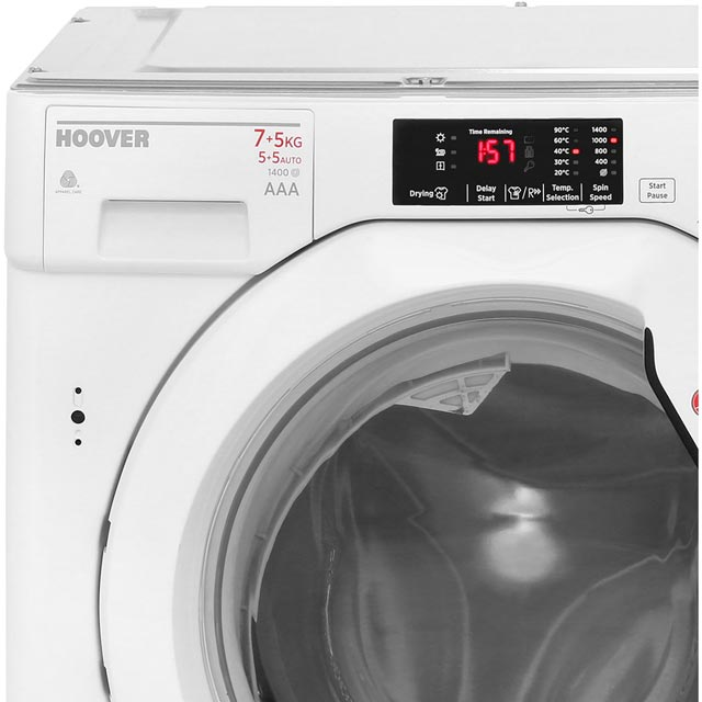 Hoover HBWD7514DA Built In Washer Dryer - White - HBWD7514DA_WH - 4