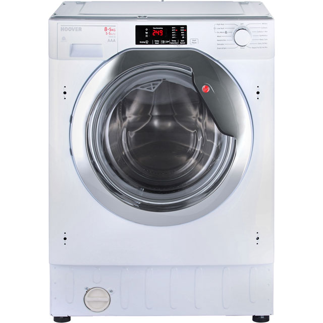 Hoover HBWD8514DC Built In 8Kg / 5Kg Washer Dryer - White - HBWD8514DC_WH - 1