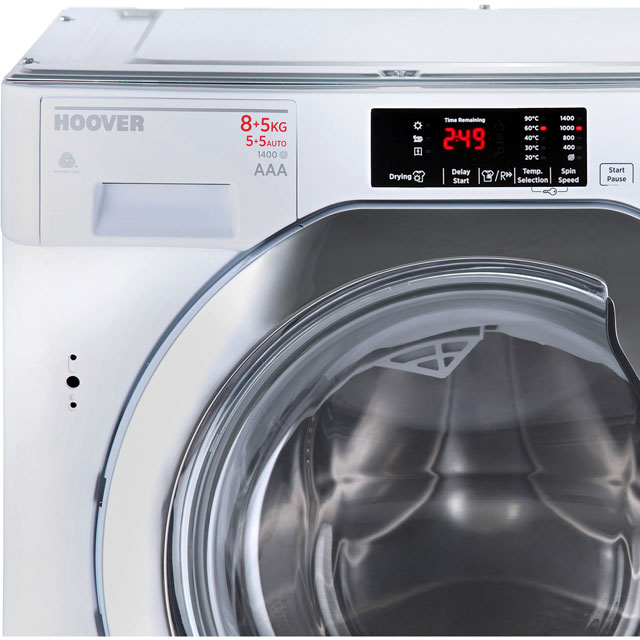 Hoover HBWD8514DC Built In 8Kg / 5Kg Washer Dryer - White - HBWD8514DC_WH - 2