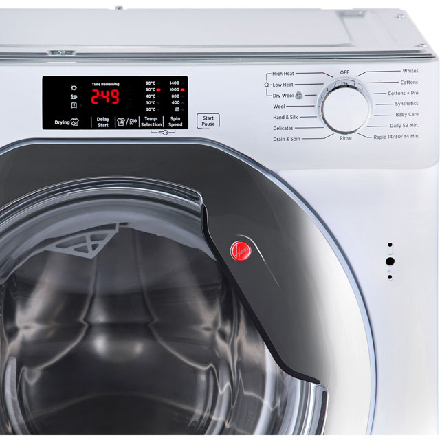 Hoover HBWD8514DC Built In 8Kg / 5Kg Washer Dryer - White - HBWD8514DC_WH - 3