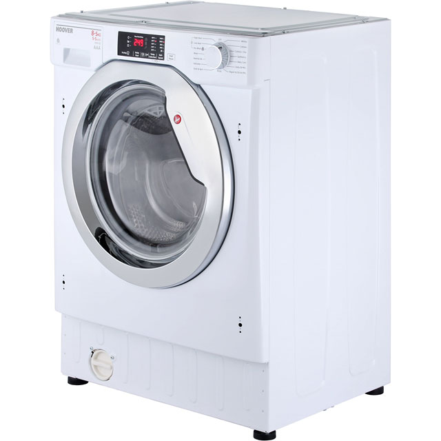 Hoover HBWD8514DC Built In 8Kg / 5Kg Washer Dryer - White - HBWD8514DC_WH - 4
