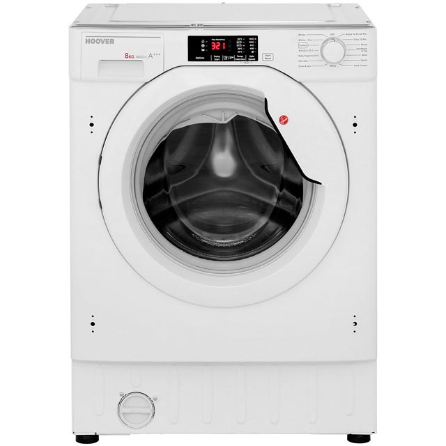 Hoover H-WASH 300 HBWM814D Built In 8Kg Washing Machine - White - HBWM814D_WH - 2