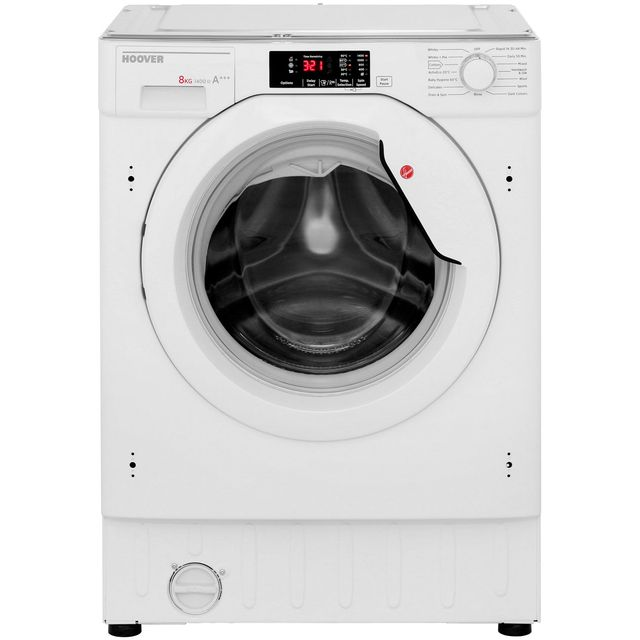 Hoover H-WASH 300 HBWM814D Integrated 8Kg Washing Machine with 1400 rpm - A+++ Rated - HBWM814D_WH - 1