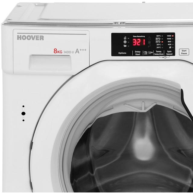Hoover H-WASH 300 HBWM814D Built In 8Kg Washing Machine - White - HBWM814D_WH - 4