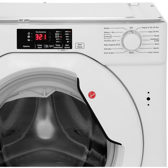 Hoover H-WASH 300 HBWM814D Built In 8Kg Washing Machine - White - HBWM814D_WH - 5