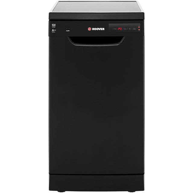Hoover HDP2D1049B Slimline Dishwasher - Black - A++ Rated - HDP2D1049B_BK - 1