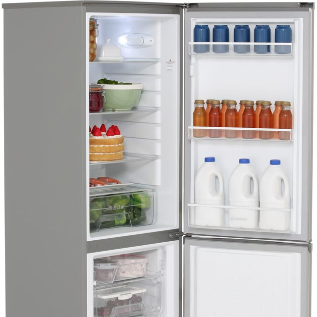 Hoover HFF195XK Fridge Freezer - Stainless Steel - HFF195XK_SS - 3