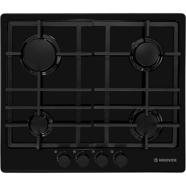 Hoover HGH64SCEB Built In Gas Hob - Black - HGH64SCEB_BK - 1