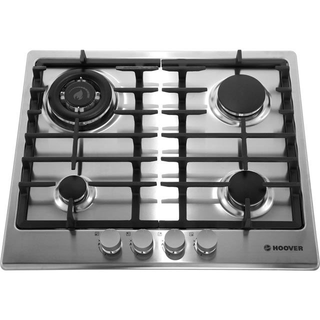 Hoover HGH64SDWCEX Built In Gas Hob - Stainless Steel - HGH64SDWCEX_SS - 4
