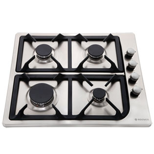 Hoover HGL64SCX 58cm Gas Hob - Stainless Steel - HGL64SCX_SS - 1