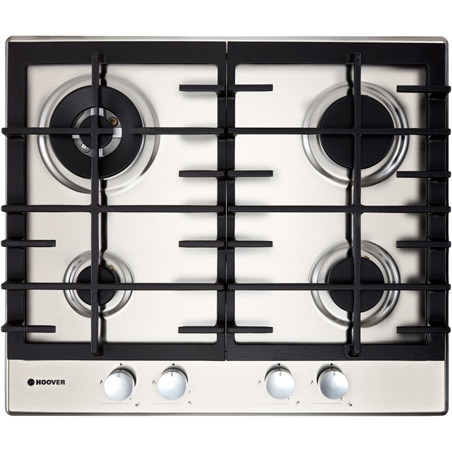 Hoover H-HOB 300 GAS HHG6BR4MX 60cm Gas Hob - Stainless Steel