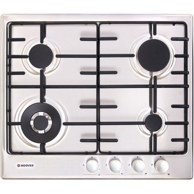 Hoover H-HOB 300 GAS HHW6BF4MX Built In Gas Hob - Stainless Steel - HHW6BF4MX_SS - 1