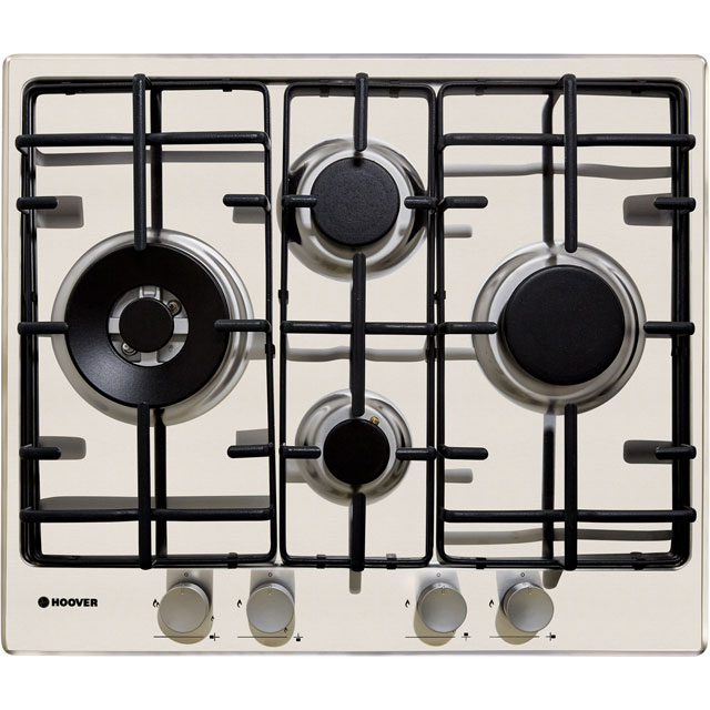 Hoover H-HOB 300 GAS HHW6D5WMX Built In Gas Hob - Stainless Steel - HHW6D5WMX_SS - 1
