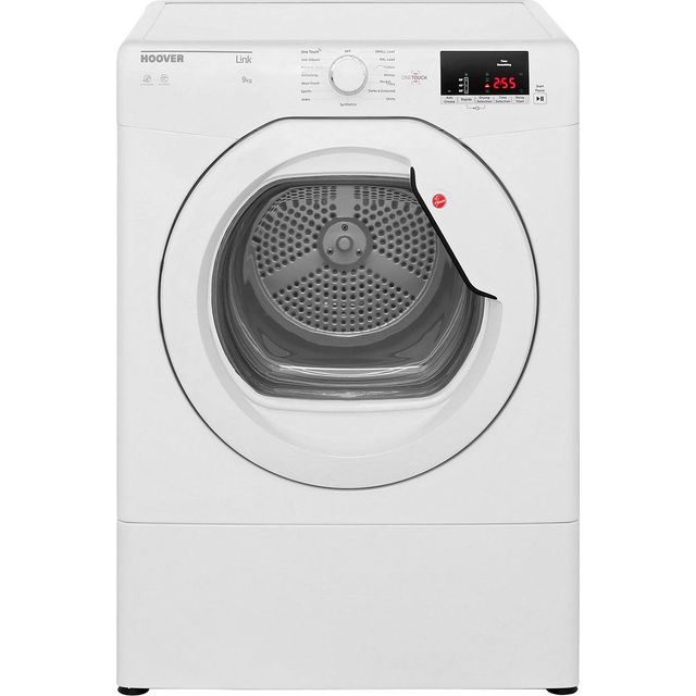 Hoover Dynamic Next HLV9DG 9Kg Vented Tumble Dryer - White - C Rated - HLV9DG_WH - 1